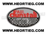 Paul Dunstall Norton 750 Tank and Fairing Transfer Decal DDUN8-3